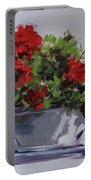 Afternoon Geraniums Portable Battery Charger