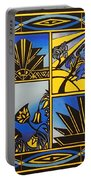 Art Deco In Blue Portable Battery Charger