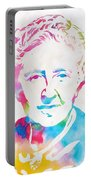 Agatha Christie Watercolor Tribute Portable Battery Charger
