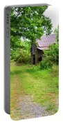 Aging Barn In Woods Portable Battery Charger