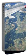 Air Berlin Over Switzerland Portable Battery Charger by Travel Pics