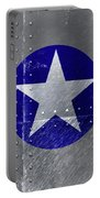 Air Force Logo On Riveted Steel Plane Fuselage Portable Battery Charger