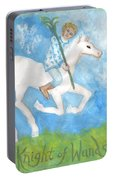 Airy Knight Of Wands Portable Battery Charger