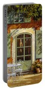 Al Fresco In Cortile Portable Battery Charger by Guido Borelli