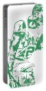 Al Horford Boston Celtics Pixel Art 5 Portable Battery Charger