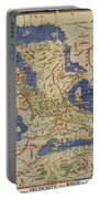 Al Idrisi World Map 1154 Portable Battery Charger by SPL and Photo Researchers