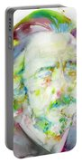Alan Watts - Watercolor Portrait.3 Portable Battery Charger