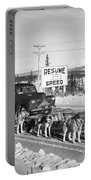 Alaska: Dog Sled, C1950 Portable Battery Charger