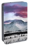Alaskan Range At Sunset Portable Battery Charger