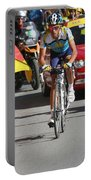 Alberto Contador - Mountain Stage Portable Battery Charger by Travel Pics