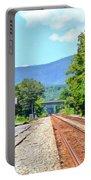 Alderson Train Depot And Tracks Alderson West Virginia Portable Battery Charger