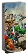 Alexander The Great At The Battle Of Issus  Portable Battery Charger