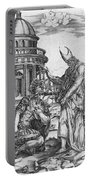 Alexander The Great Kneeling Before The High Priest Of Ammon Portable Battery Charger