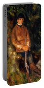 Alfred Berard And His Dog 1881 Portable Battery Charger