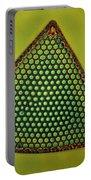 Algae, Diatom, Triceratium Ladus, Lm Portable Battery Charger by Eric Grave