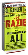 Ali Vs Frazier Boxing Poster Portable Battery Charger