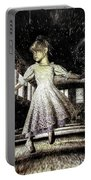 Alice And The Rabbit Portable Battery Charger by Bob Orsillo