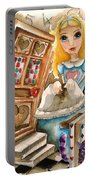 Alice In Wonderland 2 Portable Battery Charger by Lucia Stewart
