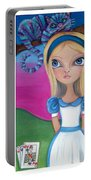 Alice In Wonderland Inspired Triptych Portable Battery Charger