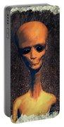 Alien Portrait Portable Battery Charger