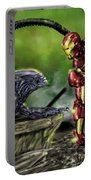 Alien Vs Iron Man Portable Battery Charger by Pete Tapang