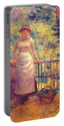 Aline At The Gate Girl In The Garden 1884 Portable Battery Charger
