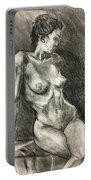 Alison Charcoal On Paper From Observation  Portable Battery Charger