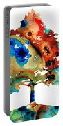 All Seasons Tree 3 - Colorful Landscape Print Portable Battery Charger