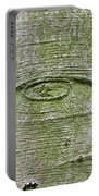 All-seeing Eye Of God On A Tree Bark Portable Battery Charger