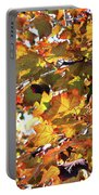 All The Leaves Are Red And Orange Fall Foliage With Sunshine Portable Battery Charger