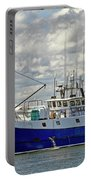 Cloudy Day On The Marina Portable Battery Charger