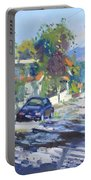 Alleyway By Lida's House Greece Portable Battery Charger