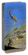 Alligator And Blue Heron Portable Battery Charger