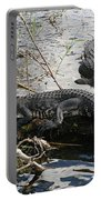 Alligators In An Everglades Swamp Portable Battery Charger