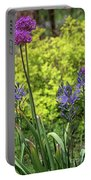 Allium And Camassia Portable Battery Charger