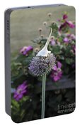 Allium Blossom With Cap Portable Battery Charger