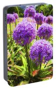 Allium Flowers Portable Battery Charger
