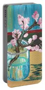 Almond Blossoms In A Glass Portable Battery Charger