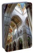 Almudena Cathedral Interior In Madrid Portable Battery Charger