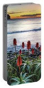 Aloe Vera In Flower At The Seaside Portable Battery Charger
