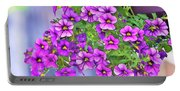 Aloha Purple Sky Calibrachoa Abstract I Portable Battery Charger