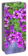 Aloha Purple Sky Calibrachoa Abstract I Portable Battery Charger