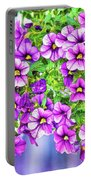 Aloha Purple Sky Calibrachoa Abstract II Portable Battery Charger