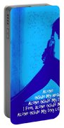 Alone In Blue Portable Battery Charger