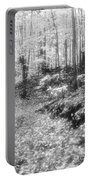Along The Path Bw  Portable Battery Charger