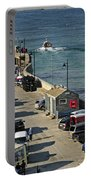 Along The South Pier - Newquay Harbour Portable Battery Charger