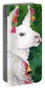 Alpaca With Attitude Portable Battery Charger by Carlin Blahnik CarlinArtWatercolor