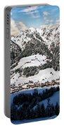 Alpbach Winter Landscape Portable Battery Charger
