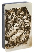 Alpha Male - The Wolf - Antiqued Portable Battery Charger
