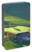 Alpine Farm And Meadows In Autumn Portable Battery Charger